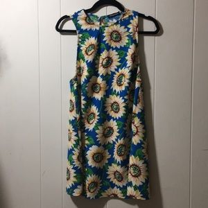American Apparel Swing Sunflower Dress